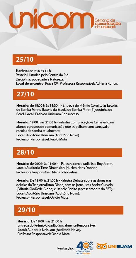 Unicom 2014 - Programação